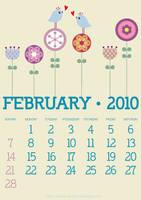 Feb Calender by blissart
