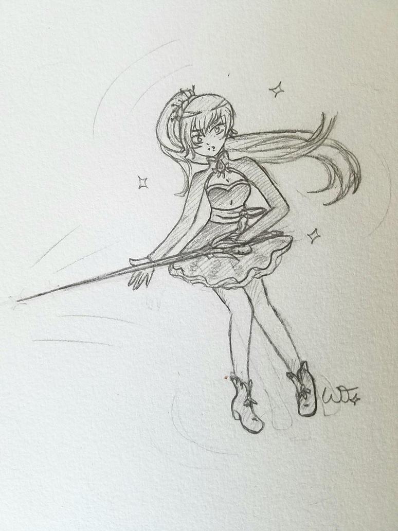 Weiss Schnee Pencil Sketch by FluffyCamellia