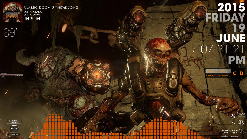 DOOM - Rainmeter Theme by DS-Productions