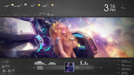 Scarlet Blade - Rainmeter Theme by DS-Productions