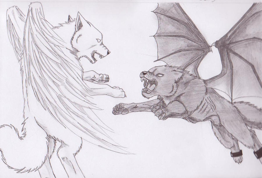 Wolves With Wings By RedondoBloodpaw