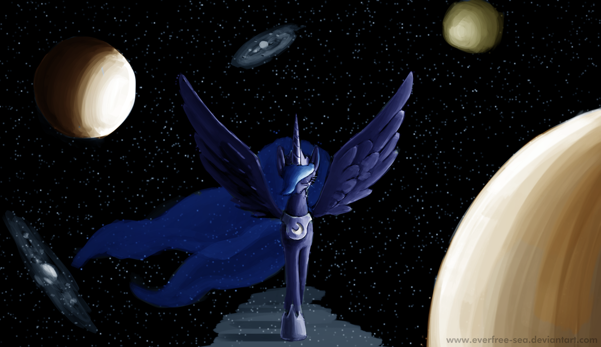 Luna's Sorrow by FiddleArts