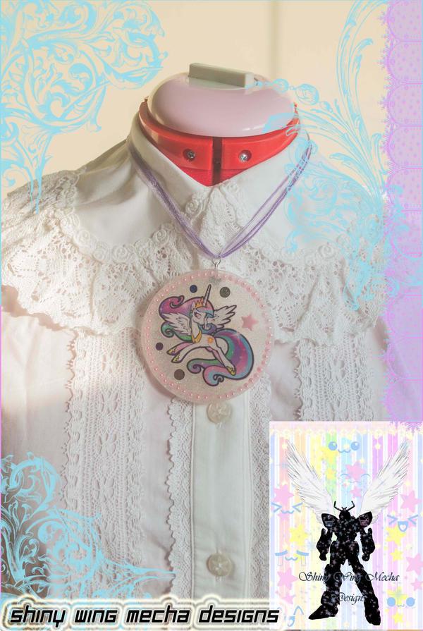 My Little Pony Celestia Blue by ShinyWingMechaDesign