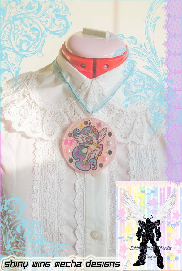My Little Pony Celestia Pink Necklace by ShinyWingMechaDesign