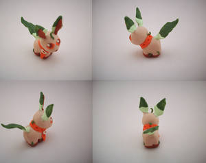 Chibi Leafeon Sculpture by CharredPinappleTart