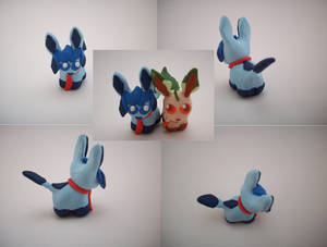 Chibi Glaceon Sculpture by CharredPinappleTart