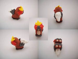 Chibi Entei Sculpture by CharredPinappleTart