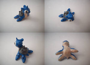 Chibi Lapras Sculpture by CharredPinappleTart