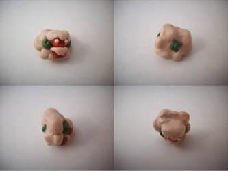 Chibi Whimsicott Sculpture by CharredPinappleTart