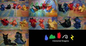 Elemental Dragon Sculptures