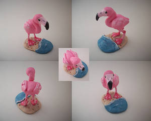 Flamingo Sculpture by CharredPinappleTart