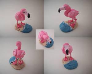 Flamingo Sculpture by CharredPinappleTart