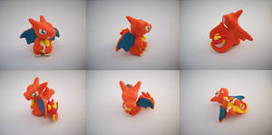 Chibi Charizard Sculpture Version 2 by CharredPinappleTart
