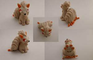 Ninetales Chibi Sculpture by CharredPinappleTart