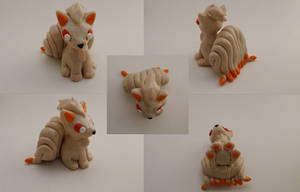 Ninetales Chibi Sculpture by CharredPinappleTart