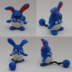 Chibi Azumarill Sculpture - Pokemon Sculpture