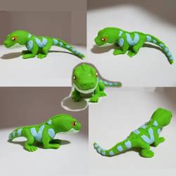 Cute Fiji Banded Iguana Sculpture