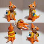 Chibi Floatzel Sculpture - Pokemon Sculpture by CharredPinappleTart