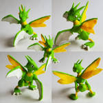 Scyther Ready for Battle - Pokemon Sculpture by CharredPinappleTart
