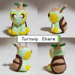 Turtwig Necklace Charm - Pokemon Sculpture by CharredPinappleTart