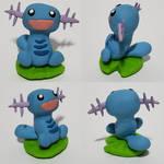 Lily Pad Wooper - Pokemon Sculpture