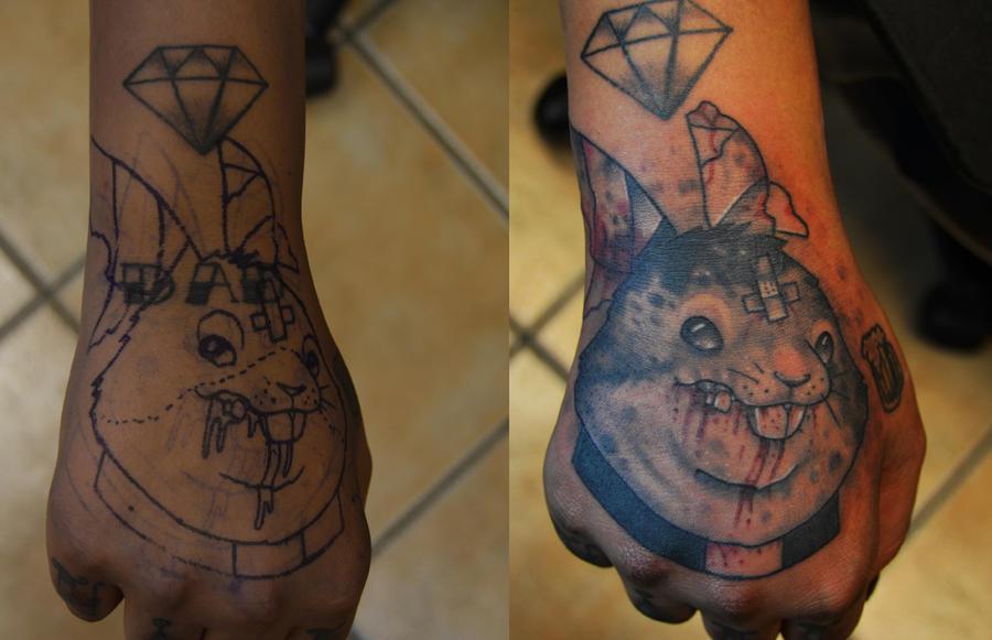 Evil rabbit tattoo