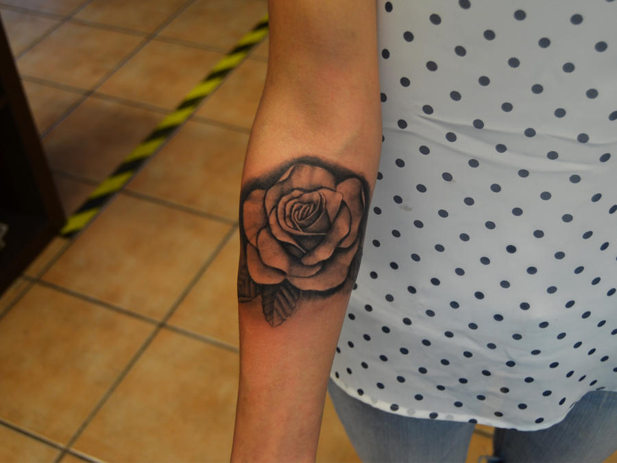 Victorian Rose Tattoo realstic rose tattoo by