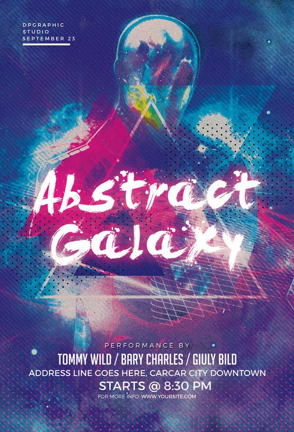 Abstract Galaxy Flyer by Designerwoo on DeviantArt