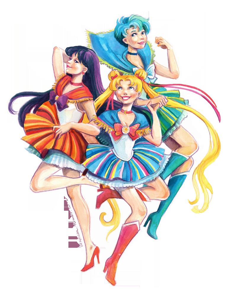 Sailor Moon in a Polish folk way :) by Vasylissa