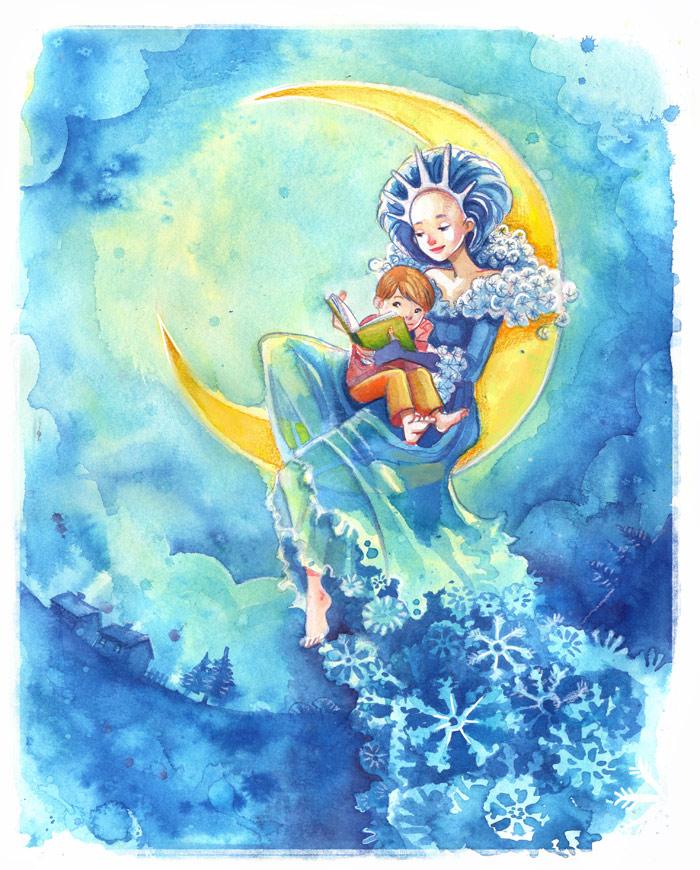 Winter loves children! by Vasylissa
