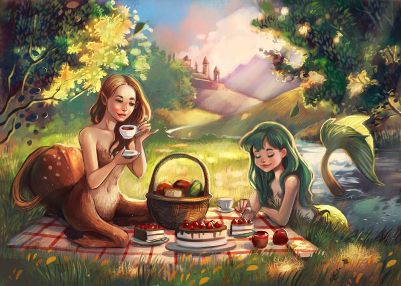 Tea time by Vasylissa