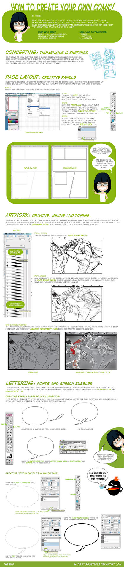 how to create a comic page by rooster82 on deviantart