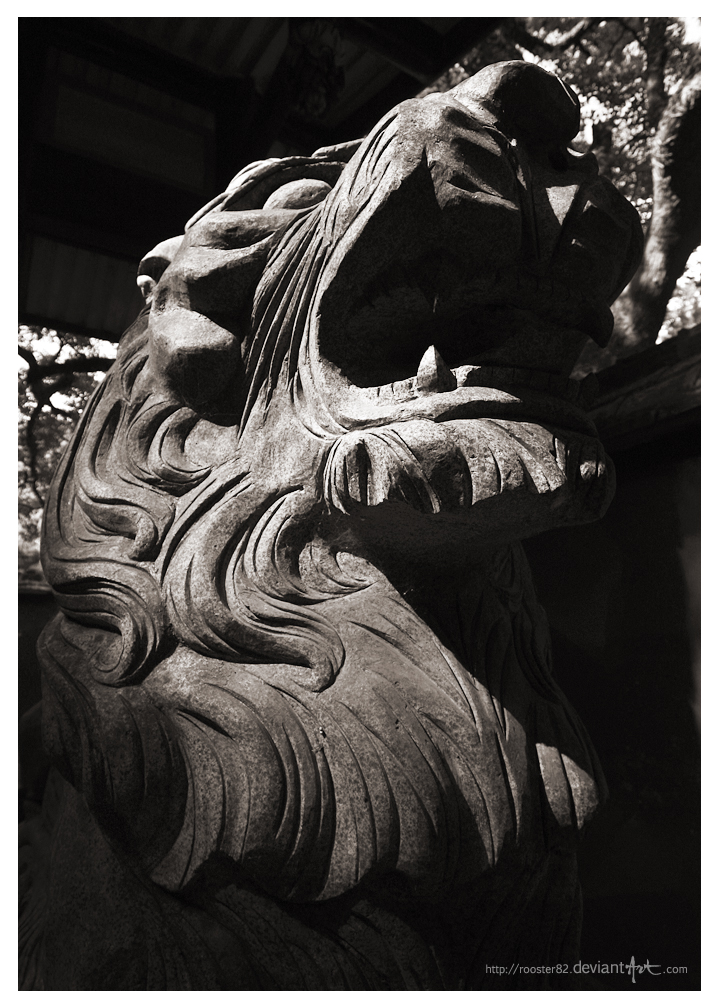 Temple Lion by rooster82