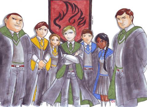 Malfoy's Dragon Army by dinosaurusgede