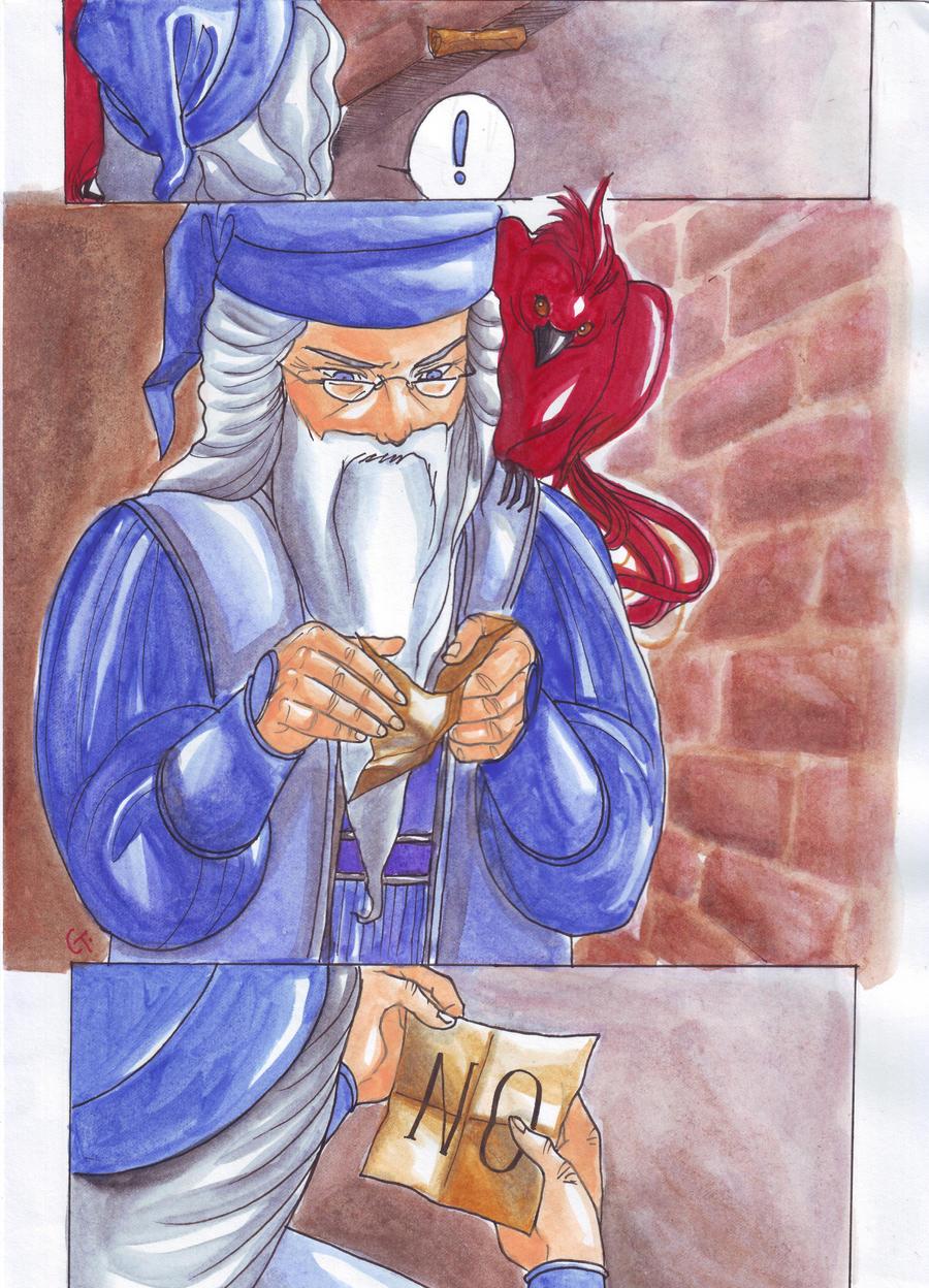 Dumbledore's crumpled scrap by dinosaurusgede