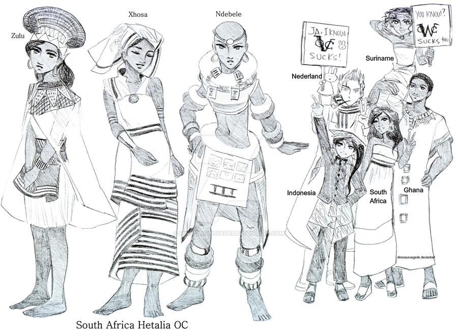 South Africa Hetalia Oc by dinosaurusgede