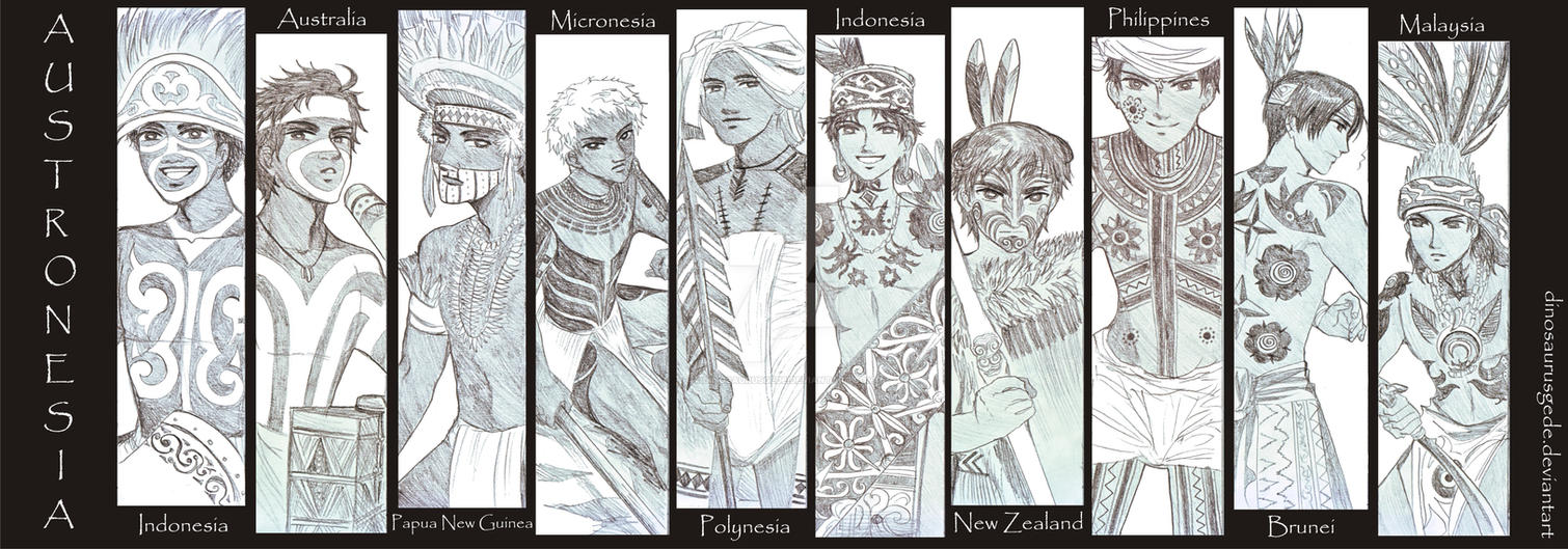 Austronesia Hetalia OCs : TATTOO by dinosaurusgede