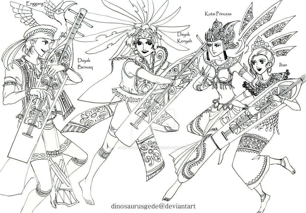 Sampek and Kutai Princess by dinosaurusgede