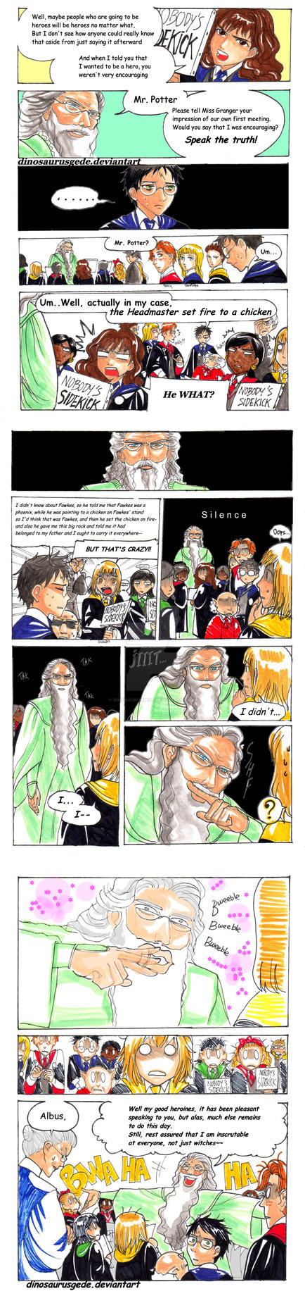 Dumbledore Madness by dinosaurusgede