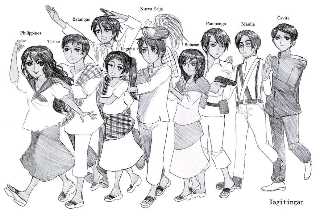 Kagitingan Characters by dinosaurusgede