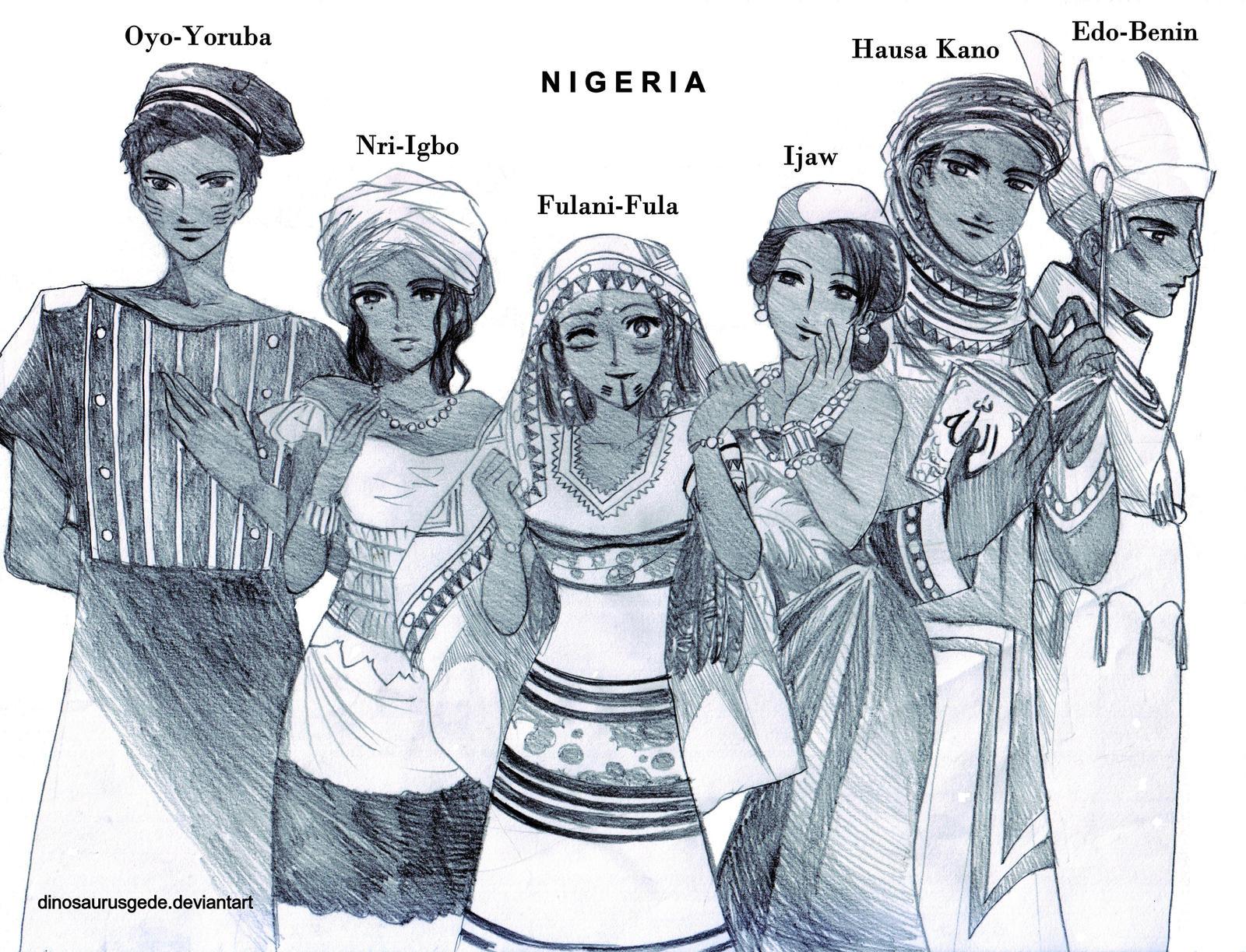 Nigeria Ocs by dinosaurusgede