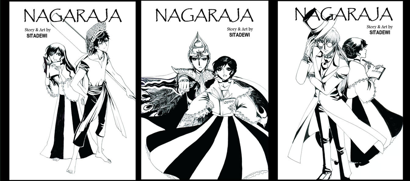 Nagaraja Cover Lineart by dinosaurusgede