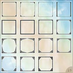 Set of avatar templates