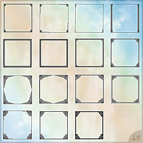 Set of avatar templates by Morfuska