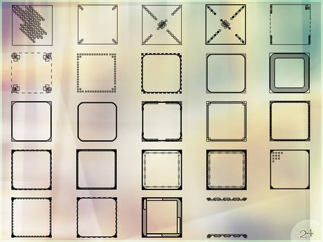 Icon template set