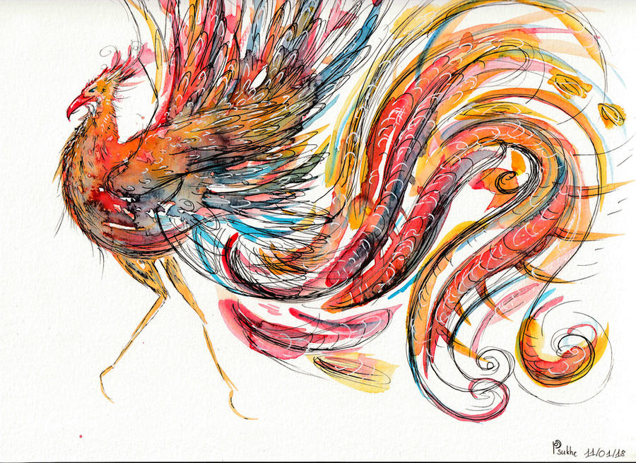 Rainbow bird by Darksoulyshiroyuki