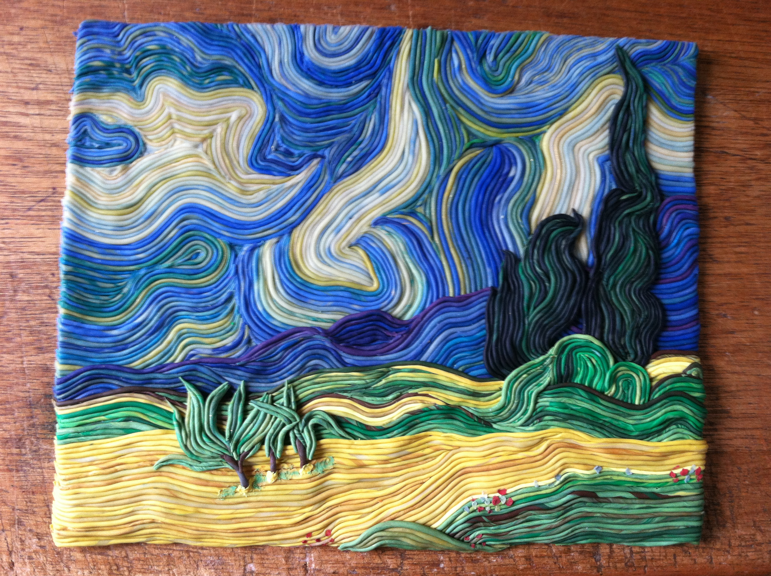 Wheatfield With Cypresses Wallpaper Wheat Field with Cypre...