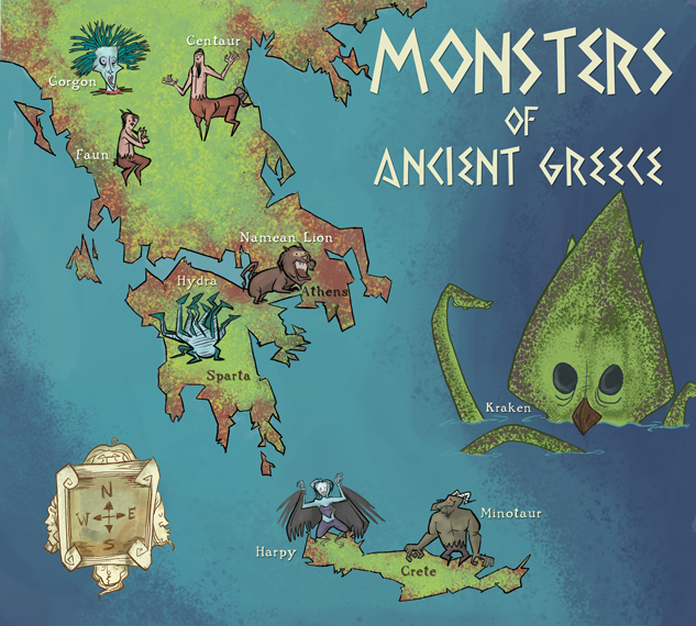 Monsters of Ancient Greece by bullwinkleman on DeviantArt