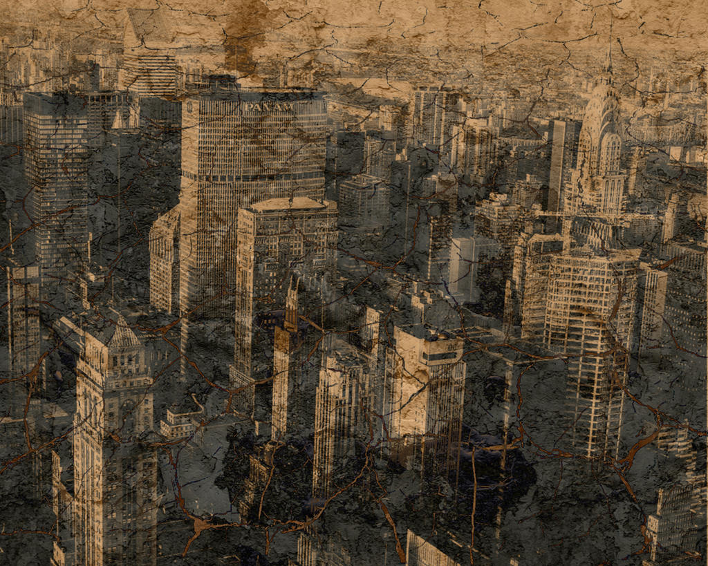Grunge City Background By Kmk422