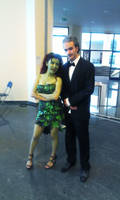 Alfred Pennyworth(me) and Poison Ivy(KirinCosplay)